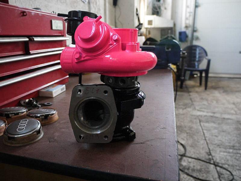 pulverbeschichtet pink hochglanz
