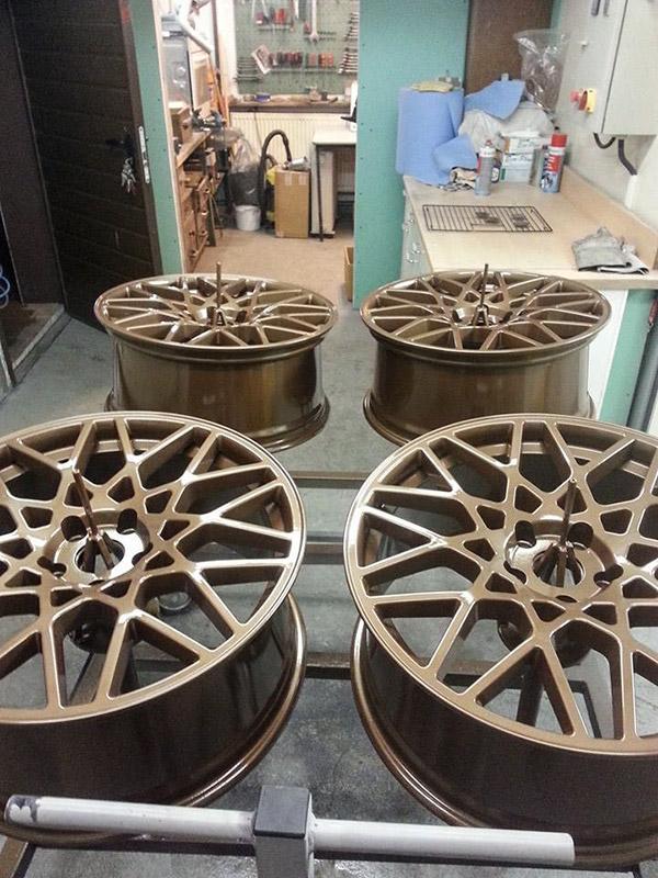 pulverbeschichtet Bronze-metallic