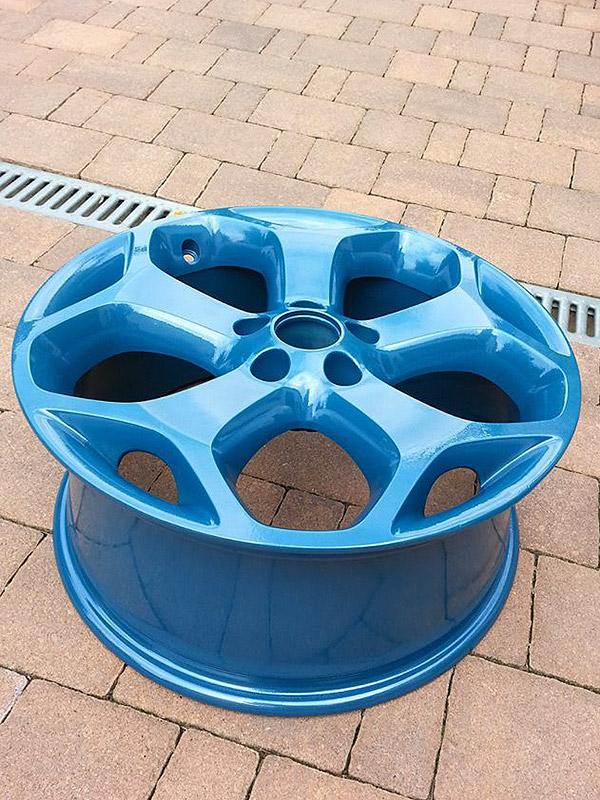 pulverbeschichtet indigo-blau